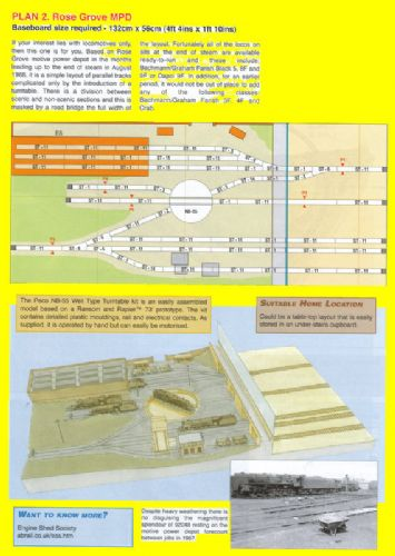 Peco New Plan 002 N Scale Rose Grove Motive Power Depot